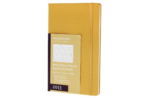 Wochenkalender 2013, 13x21 cm, harter Einband, sonnengelb (Moleskine Legendary Notebooks (Calendars))