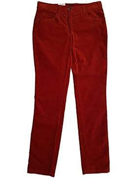 Brax Damen Cordhose Sara Soft Cord Slim Fit rot 77-6438/45 Gr 42 (W32 L32)