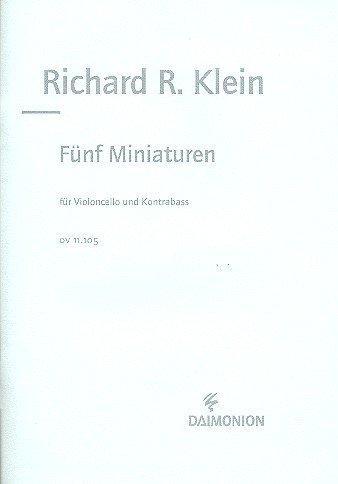 5 Miniaturen : für Violoncello und Kontrabass