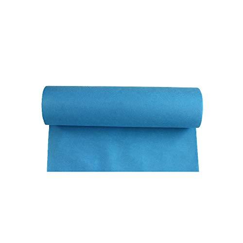 LIYUZHEN Hochzeitsteppich, Farbe Teppich Rolle Einweg Rutschfeste Vlies Verschleißfeste Bühne Hochzeit Requisiten, Dicke 1 Mm, Größe: 1.2m * 15m (Farbe : Lake Blue)