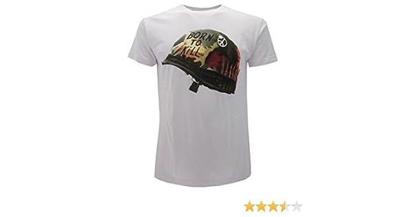 T-Shirt Originale Full Metal Jacket Stanley Kubrick Maglia Bianca con cartellino ed Etichetta di originalit/à Stanley Kubrick Collection Maglia Maglietta