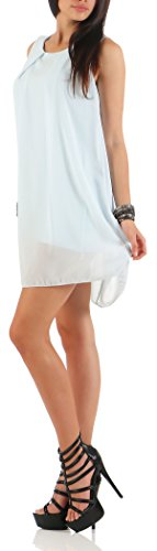 malito Damen Kleid ärmellos   elegantes Minikleid   Etuikleid mit Unterkleid   Etuikleid mit Rücken Cut-Out 6877 Hellblau