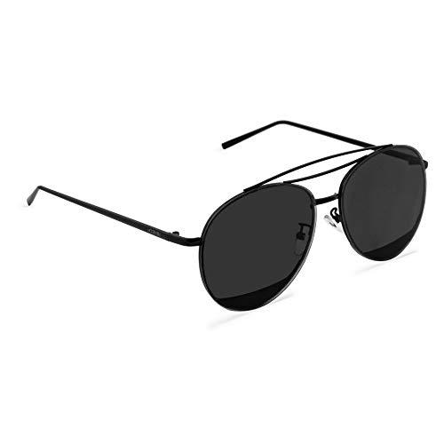 MOGENSEN Sonnenbrille Billy Aviator Flat - Schwarz - Unisex