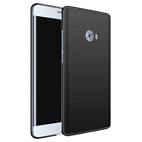 Xiaomi Mi Note 2 Coque LifeePro Ultra Slim [Anti-Scratch] Hard PC Étanche aux chocs Résistant aux impacts Protection du corps entier Doux Poignée Arrière Housse pour Xiaomi Mi Note 2 Noir