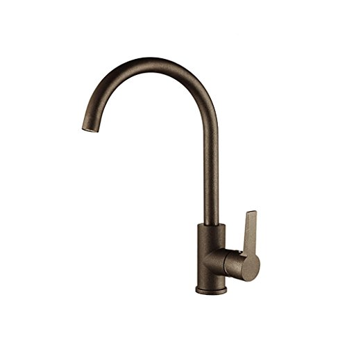 PLYY 360 Swivel Küche Spüle Mixer Tap Single Handle Einloch Spritzlack Finish Becken Messing Wasserhahn
