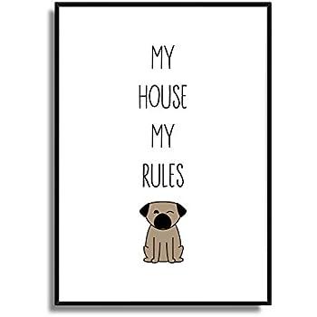Druck Fine Art Bild Poster Familienregeln Ii Print