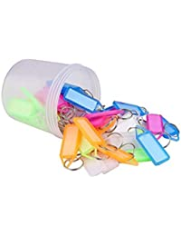 PA Pack of 50 Assorted Tag Label Multipurpose Writeable Name Key Tags Keychains