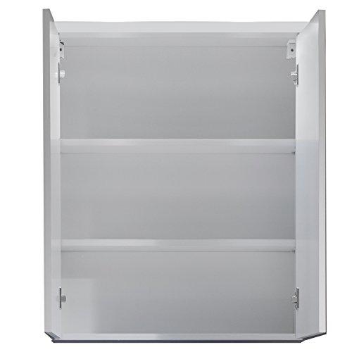 Trendteam Badezimmerspiegelschrank Weiß - 2