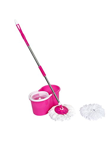 ALLWIN Spin Mop & Plastic Bucket Magic 360 Degree Cleaning with Mirofiber Refills_(ALLWIN_1)