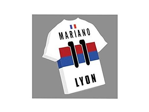 France Ligue 1 - Magnet pour frigo en forme de T-shirt au couleur de votre équipe préférée!!Personnalisation gratuite: n'importe quel nom, numéro, équipe!! (Olympique Lyonnais)