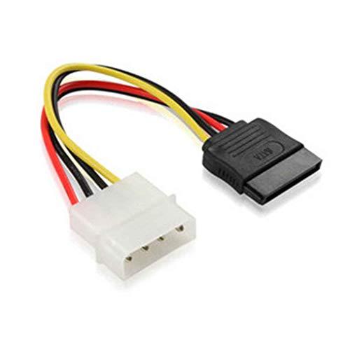 Cdrox SATA IDE-Energien-Adapter-Kabel Kupferkern D Typ 4 Pin Serial Port Optische Festplatte Netzkabel -