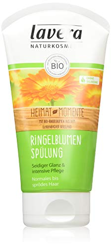 lavera Haar Spülung Ringelblume ∙ Seidiger Glanzvegan, 2er Pack (2 x 150ml)
