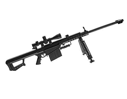 Ghost Modèle réduit d'arme factice-Maquette décorative en métal avec Support de présentation-A Collectionner : kit n°2 Fusil Sniper Barrett Cal.50
