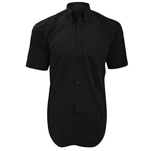 Chemise à manches courtes Kustom Kit pour homme Noir