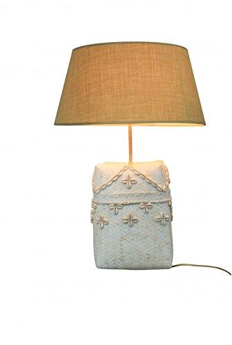 Decoshop Petite Lampe Osier et Coquillage