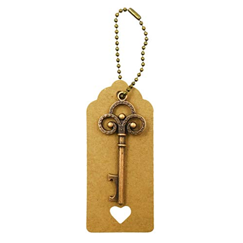 GROOMY Schlüsselanhänger Flaschenöffner Kraft Tags Hochzeit Souvenirs begünstigt Festliche Party Supply - 3# Heart Tag (Dog Tags Party Supplies)