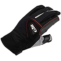 Gill Championship Long Finger Sailing Yachting and Dinghy Gloves Black - Easy Stretch UV Sun Protection and SPF Properties