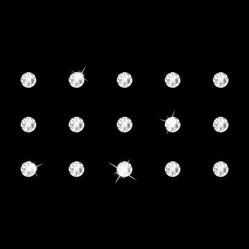 Selbstklebende Strasstattoos von Swarovski Elements (Crystal), 15 Strasssteine (1 Folie) (Tattoo Swarovski)