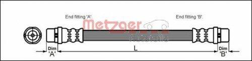 Preisvergleich Produktbild Metzger 4114774 Bremsschlauch