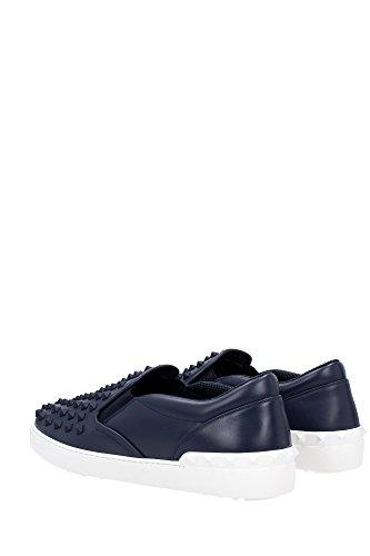 JY0S081TVDRM30 Valentino Garavani Pantoffeln Herren Leder Blau Blau