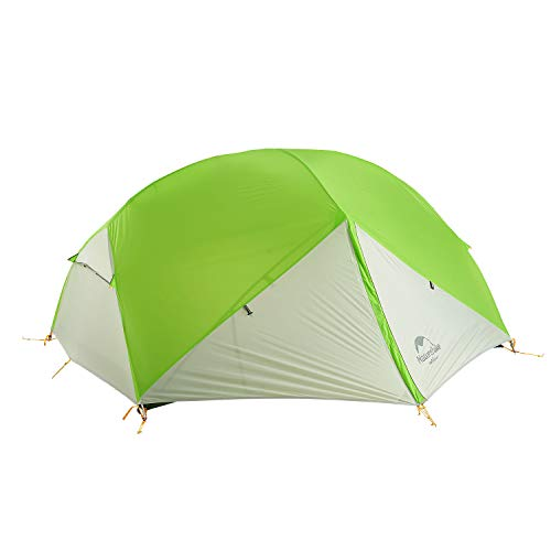 Naturehike Mongar Ultraleichte 2 Personen Zelt 20D Silikon doppelten Camping Zelt ... (Hellgrün)