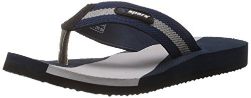 Sparx Men's Navy Blue and Grey Nylon Flip-Flops and House Slippers  - 10 UK  available at amazon for Rs.263