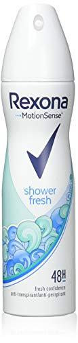 Rexona Anti-Transpirant Deospray für langanhaltende Frische Shower Fresh 48-Stunden-Schutz (6 x 150 ml)