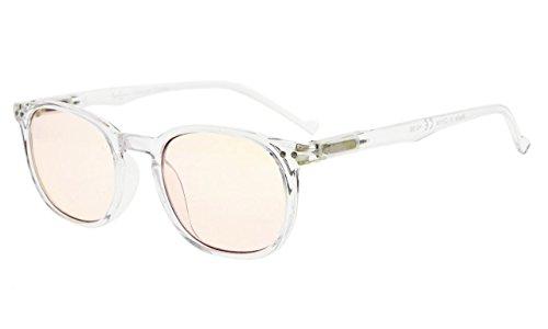 Eyekepper Qualität Frühling Hings Klassisch Retro Stil Computer Brillen Computer (bernsteinfarbene getönte Linsen, durchsichtig) +1.50