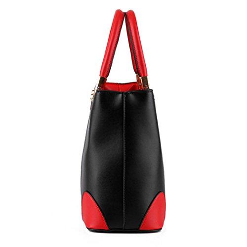 Sacchetti di spalla di cuoio del Faux dei sacchetti di Tote delle borse delle signore delle donne del progettista di lusso di modo Blu
