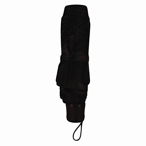 treues a-00301Damen Mini Regenschirm, schwarz