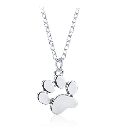LnLyin Cute Dog Paw Pendant Necklace Simple jewelry for Women Girls