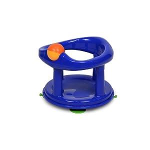Safety 1st 360° drehbarer Badesitz, ergonomischer Sitz für die Badewanne mit Rollball und 4 Saugnäpfen, nutzbar ab ca. 6 Monaten bis max. 13 kg, blau