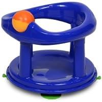Safety 1st Seggiolino da bagno, girevole di 360°, con ventose e giocattolo integrato, Blu
