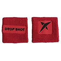 DROP SHOT Muñequera Feel (BC-Ng-Rj) Blister 2 Uds - Felpa 100% Cotton - Logo Aplicado