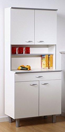 expendio Küchenschrank Isabell 11 80x180x44 cm weiß grau Buffet Schrank Buffetschrank Küchenbuffet Küche Küchenzeile