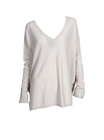 NOT SHY Damen Pullover aus Kaschmir und Leinen beige sand chine S/M