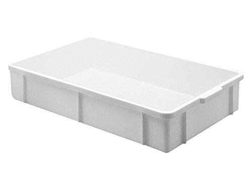 Giganplast Transport Cassetta, Plastica, Bianco, 60 x 40 x 16 cm