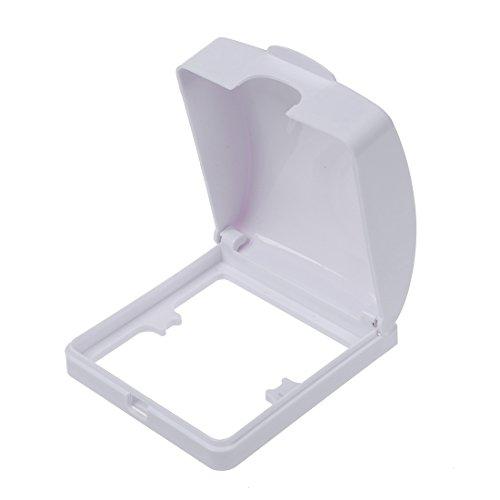 TOOGOO (R) Badezimmer-Wand-Schalter-Schutz-Abdeckung Weiss Plastik Wasserdicht Abdeckung -