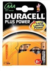 Duracell Plus Alkaline Batterie Typ AAA Leistung 1,5 V Ref 81275401 [Set 8] -