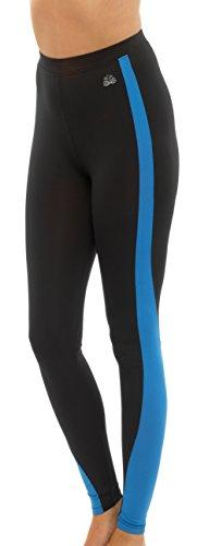 Mesdames Gym ou Sport Fitness Mix et Match de haut et bas noir avec petit bleu violet ou rose en taille M ou L noir - Leggings-Blue Stripe