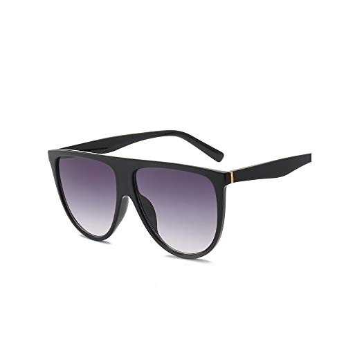 WJFDSGYG Dünne Flache Oberseite Sonnenbrille-Frauen-Entwerfer-Sonnenbrille-Frau Kim Kardashian Sunglasses Clear Glass