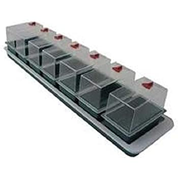 16 Cell Windowsill Greenhouse Propagator Plastic Trays with Clear Plastic Lid Deep Tray for Sowing Seeds Easy Watering Good Irrigation 3 x 16 Cell Windowsill Propagator by Thompson and Morgan