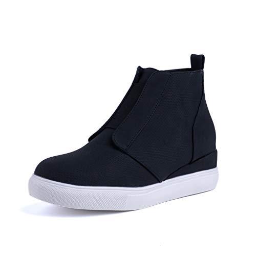 Botines Mujer Cuña Planos Invierno Planas Botas Tacon Casual Zapatos para Dama Plataforma 5cm Elegante...