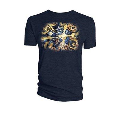 Doctor Who Van Gogh Exploding Tardis T-Shirt dunkelblau M