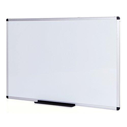 VIZ-PRO Pizarra blanca no magnética con marco de aluminio, 900 x 600 mm