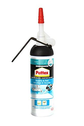 Pattex PKSDT Dusche&Bad Silikon Spender, einfache Anwendung ohne Kartusche, Transparent