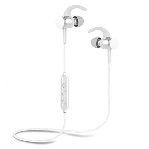 Slick-Prints White Wireless 5.0-Kopfhörer Ohrhörer mit Magnetanschluss mehr eingebautes Mikrofon und Lautstärkeregler kompatibel mit Acer ICONIA Tab A700-10K32C A700 Cell Phone