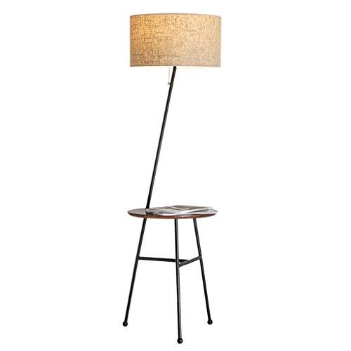 Chambre simple et moderne Chambre d'étude Salon Canapé Table basse Lampe de sol verticale ( Color : Beige )