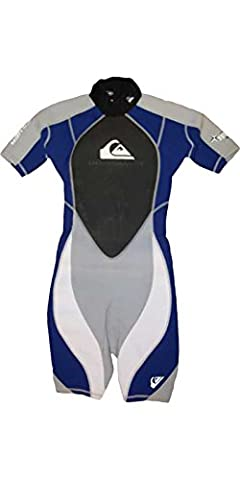 Quiksilver Syncro 2/2mm JUNIOR Shorty Wetsuit Grey / Blue SY65JS Sizes- - 8 Years