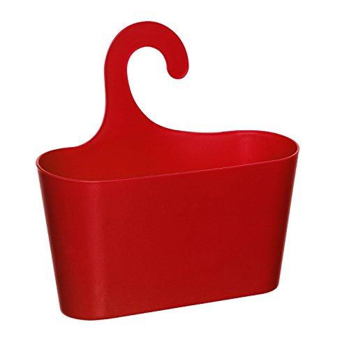 Wohnideenshop Duschkorb mit Haken zum Einhängen rot und 15 anderen Farben zum auswählen